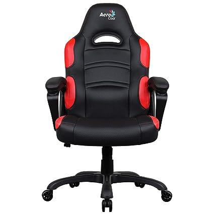 R1 Air Gaming Silla - Negro/Rojo