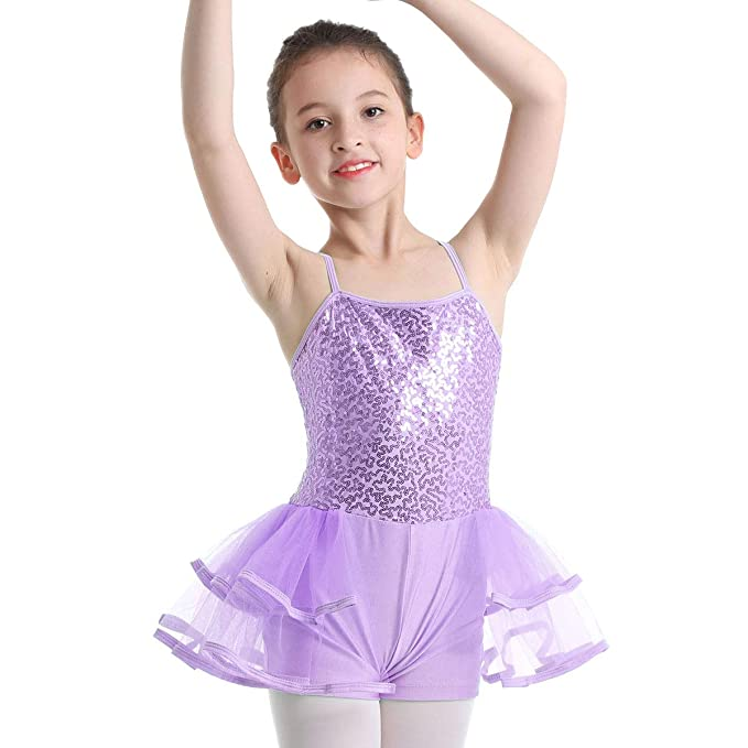 Freebily Tutú Vestido Lentejuelas de Ballet Niñas Infántil ...