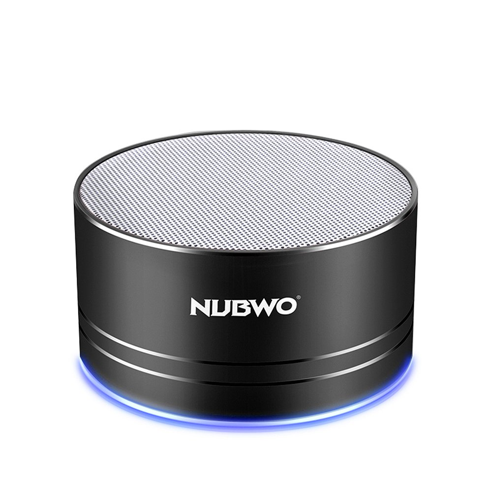 NUBWO Portable Bluetooth Speaker with Mic/Speakerphone,AUX Line,Memory Card Playback Smartphones for Apple/Android Phone (Black)