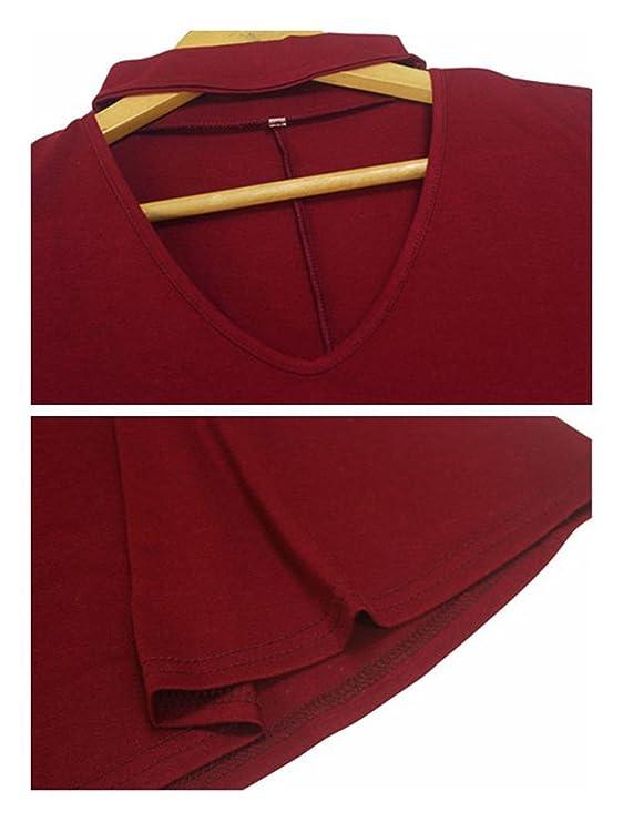Blusas Mujeres, Morbuy Vintage Tamaño Más Mini Vestido A-Linear Casual Camisetas Góticas Camisas Largas Estampadas Camisetas Manga Larga Cuello Redondo ...