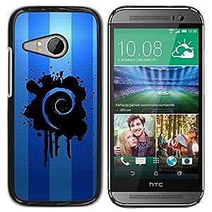 LECELL -- Funda protectora / Cubierta / Piel For HTC ONE MINI 2 / M8 MINI -- Blue Swirl --