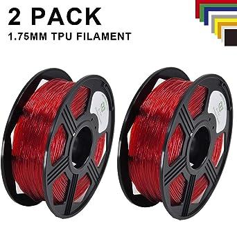 Yoyi - Filamento de TPU flexible (1,75 mm, 2 unidades, TPU ...
