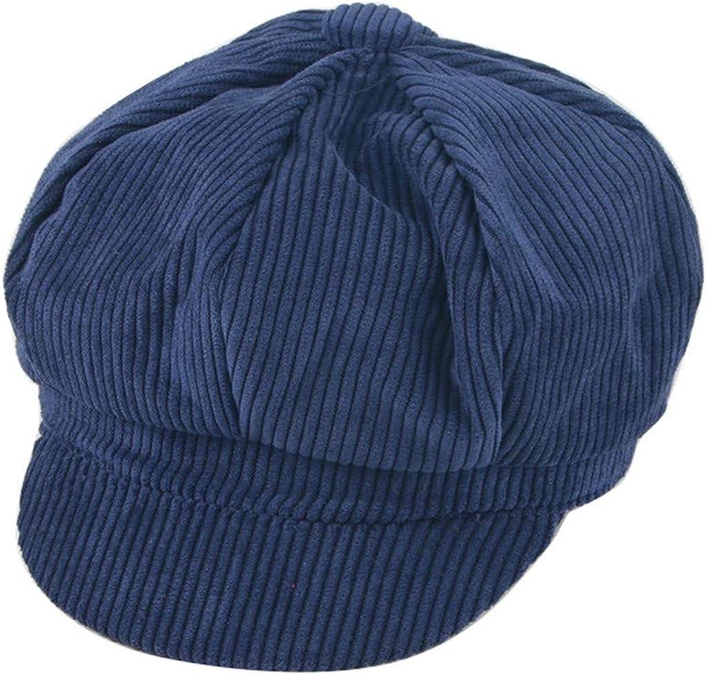 MELYKA Corduroy Beret Cap Children Tongue Cap,Fashion Flat Cap for Boys and Girls