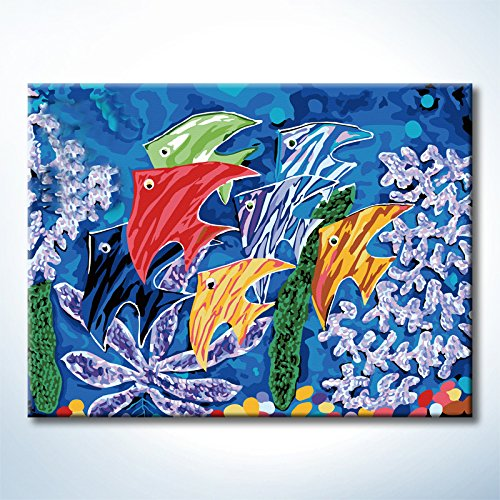 Diy Oil Paintings Paint By Numbers Kits Sea World Ocean Paintworks Diy By Yourself