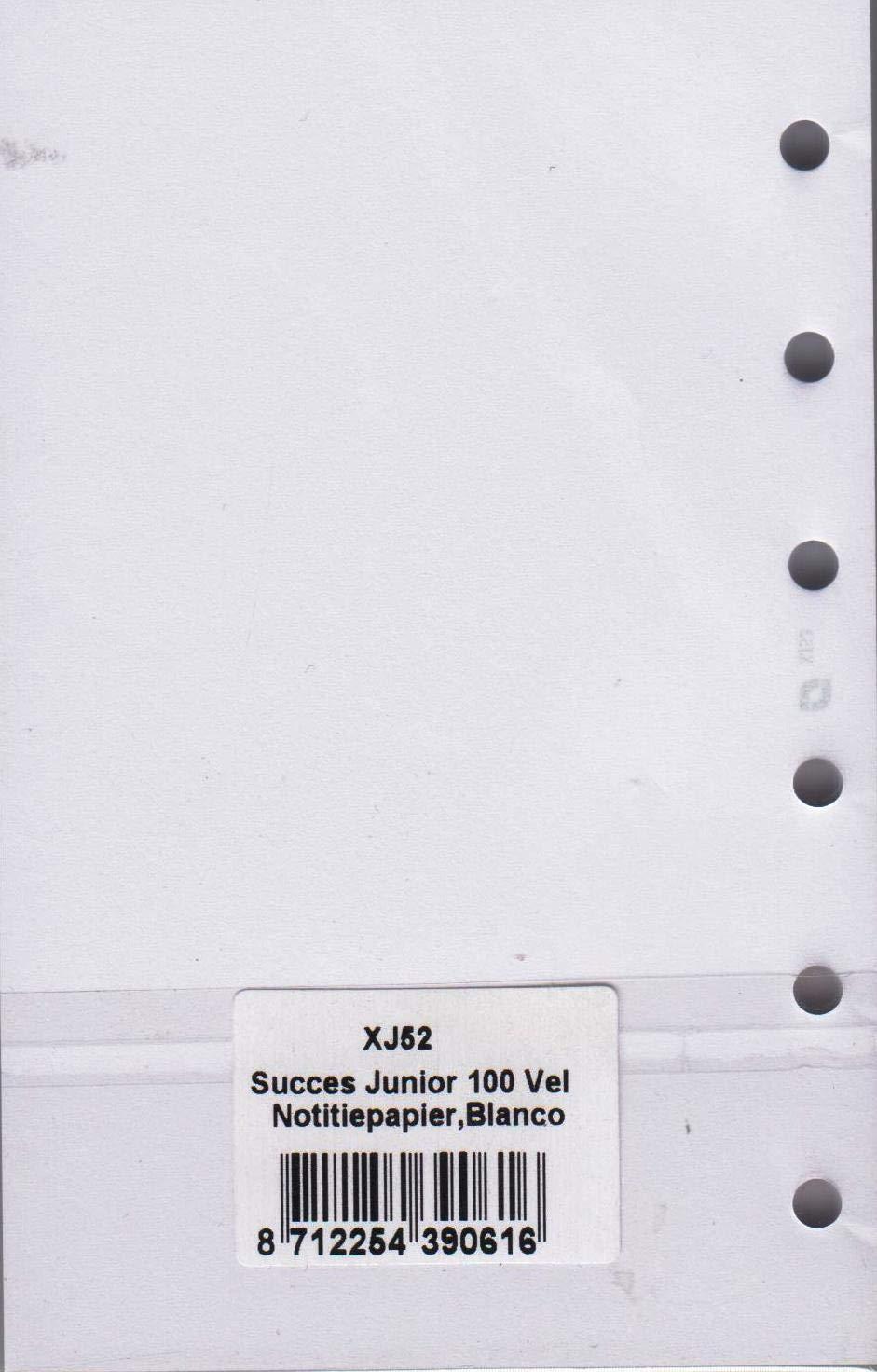 Succes Junior Notizpapier Notizbl/ätter Blanko wei/ß 100 Blatt A7 Notizen Einlagen XJ52