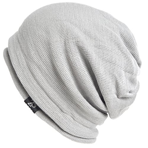 ab9b8756073 Men s Cool Cotton Beanie Slouch Skull Cap Long Baggy Hip-hop Winter Summer  Hat (Roll-Hoary) - Buy Online in UAE.