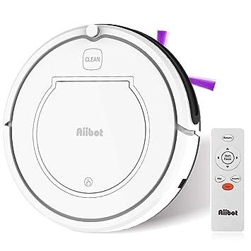 Aiibot Robot Aspirador Navegación Inteligente, Robot de Limpieza Fuerte Succión con Control Remoto, Sensor de Caída (blanco-T350-2): Amazon.es: Hogar