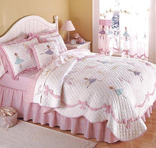 Brandream Pink Ballet Kids Comforter Set Cute Girls Bed Quil