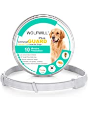 WOLFWILL Flea and Tick Collar for Dogs, Upgrade 10 Month Protection, 26 Inch Natural Dog Anti Flea Collar for Small Medium Large Pets
