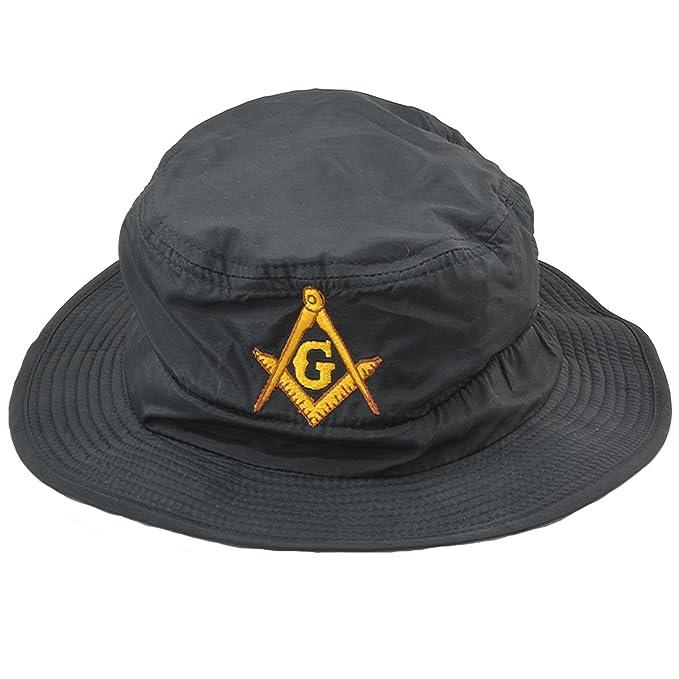 633644dbefaaf Amazon.com  Square   Compass Masonic Guide Hat - (Black)  Home   Kitchen