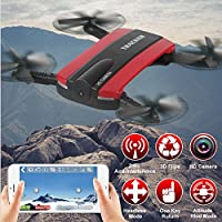 Drone MINI Foldable JXD 523 G-sensor Camera WIFI FPV RC Quadcopter HD Selfie Red