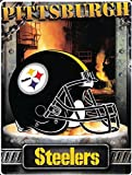 """Pittsburgh Steelers 60""""x80"""" Royal Plush Raschel Throw Blanket - Aggression Style"""