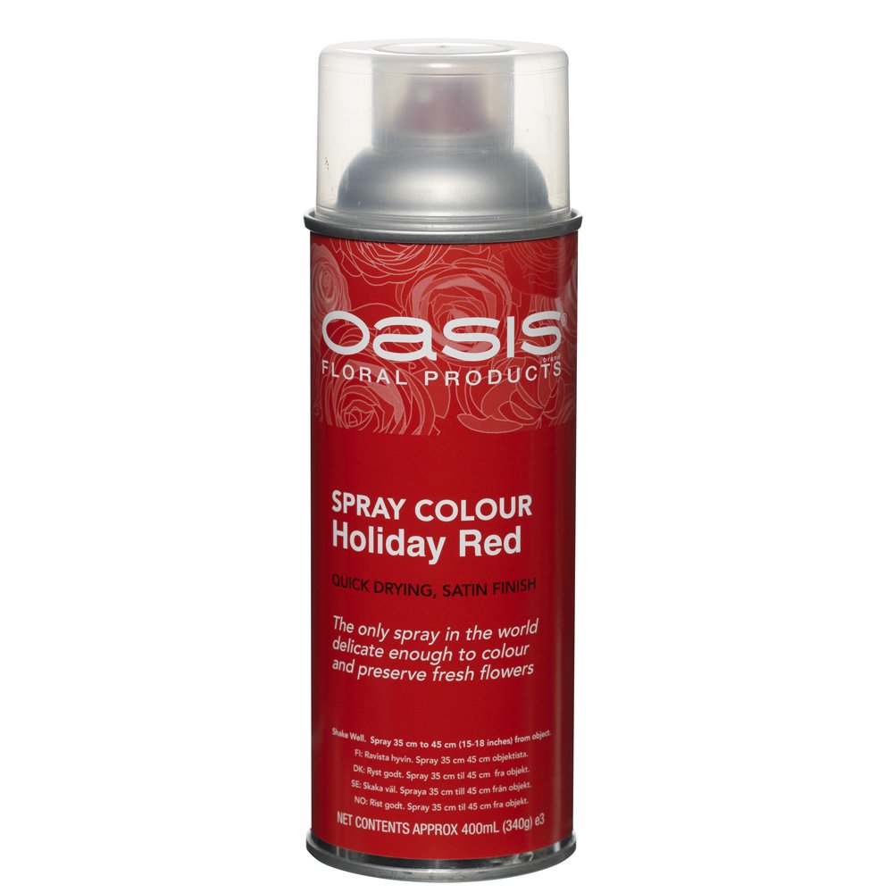 400ml FLORIST & CRAFT OASIS SPRAY PAINT *HOLIDAY RED* Smithers Oasis 5302