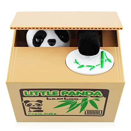 Peradix Panda Stealing Coin Piggy Bank Money Saving Box, Automatic Coin  Stealing Grabbing Bank Gift Good Habit Forming Learning Toys for Toddlers  Kids