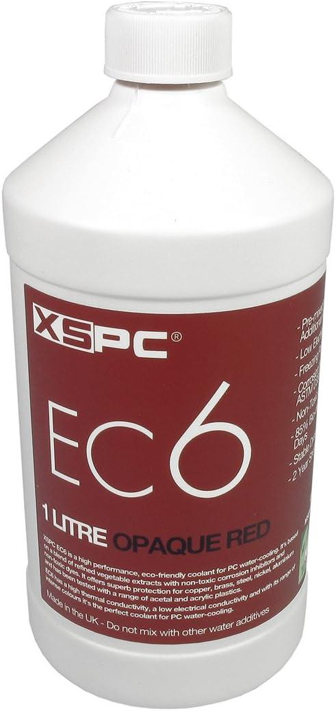 XSPC XS_EC6_OPREDRefrigerante de refrigeración de agua 1000ml, Opaque Rojo