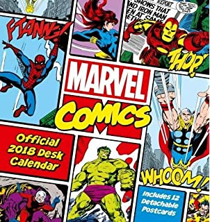 diy comic book desk. Marvel Comics Official Desk Easel 2018 Calendar - Month To View Format Diy Comic Book