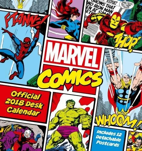 Marvel Comics Official Desk Easel 2018 Calendar - Month To View Desk Format Calendar – Desk Calendar, 20 Oct 2017