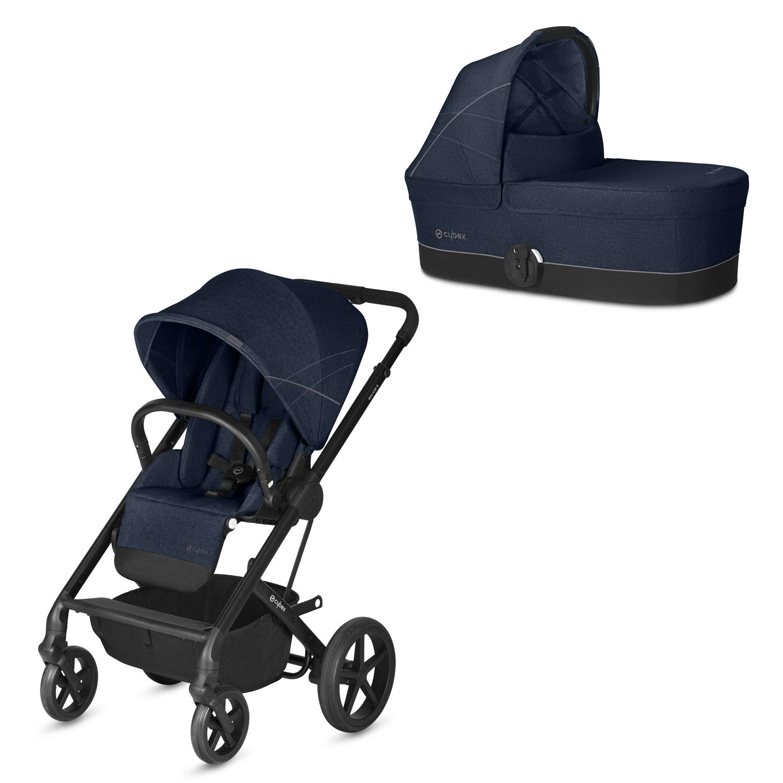 Cybex Gold - Cochecito Balios S con silla reversible y con capazo S, desde el nacimiento hasta 17 kg (aprox. 4 años), Denim Blue: Amazon.es: Bebé