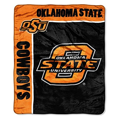 Oklahoma State Fleece Throw - Officially Licensed NCAA Oklahoma State Cowboys School Spirit Plush Raschel Throw Blanket, 50