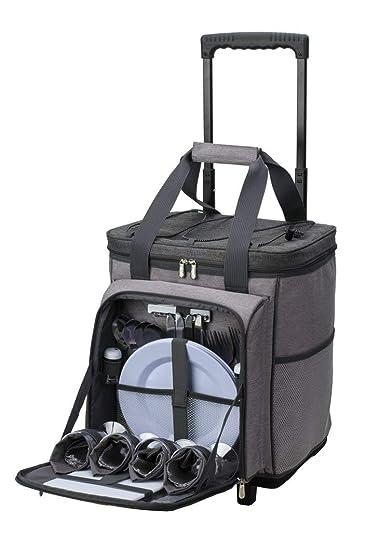 Amazon.com: Jumbl - Carrito de picnic para 4 personas, 30 ...