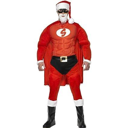 NET TOYS Traje de Super Santa musculoso Disfraz superhéroe ...