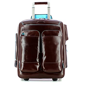 577b45808b4e71 Piquadro Blue Square cabin-sized trolley-backpack - CA3797B2 (Mahogany):  Amazon.co.uk: Luggage