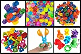JellyBeadZ Brand - Nuts, Bolts and GearZ Kit - Includes 1000's of JellyBeadZ, 1 Scooper, and 18 Large Brightly Colored Pieces '' Geared'' Towards Little Hands and Developing Motor Skills