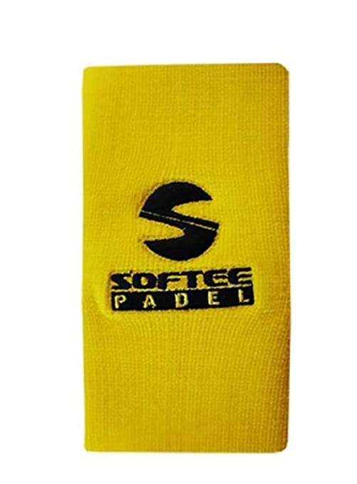Muñequera Padel ancha Softee Amarillo Fluor: Amazon.es ...