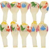 Kesheng 12 Pulgadas Globos de Látex Estampados de Dinosaurio para Decoración de Fiesta de Cumpleaños 10pcs