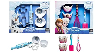 Amazon Com Disney Frozen Real Cupcakes Cookies Baking Set Bundle