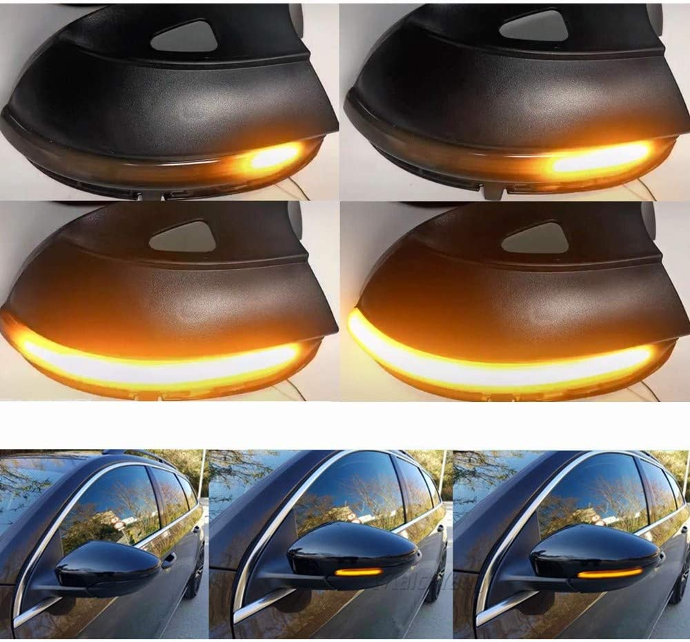 Une paire Indicateur de Miroir Sequentiel Dynamiques LED Clignotant pour Scirocco Passat B7 CC A5 Eos