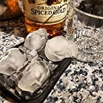"3D Skull Ice Mold-2Pack,Easy Release Silicone Mold,8 Cute and Funny Ice Skull for Whiskey,Cocktails and Juice Beverages,Black 13 2 pack ice mold :eight giant skull shape ice cubes (2"" X 2.5"") make your drink look awesome. Great for parties, bars, restaurants, summer, holiday events and holiday gifts. Reliable material: food grade silicone. Non-toxic.100% safe to use. Non-stick materials. Easy to make a full skull ice.This durable and flexible silicone ice tray won't crack or break like plastic ice tray; easy to fill, remove and clean. Multiple use: it can also be used as mousse mold, sugar mold, chocolate, ice cream, soap making tools. And it is fantastic to be used in various occasions like parties, beaches, wine party and holiday events etc."