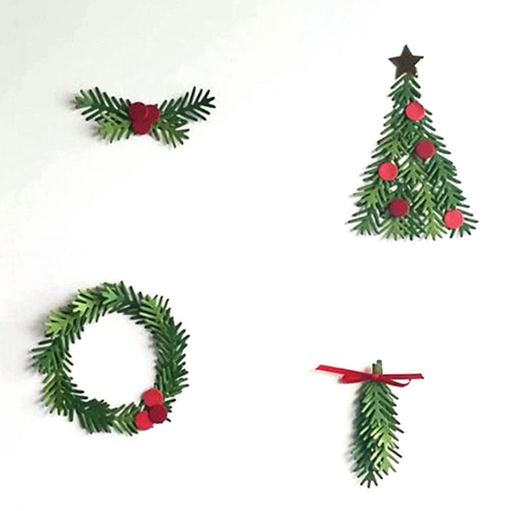 Everyday DIY Weihnachtsbaum Girlande Formen Schablone Scrapbook ...
