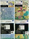 Mainstays Vinyl Tablecloth 52 x 70 Twin Pack Sea Life Theme, Elephant Theme