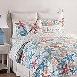 C&F Home Kalani Quilt Set, King, Blue