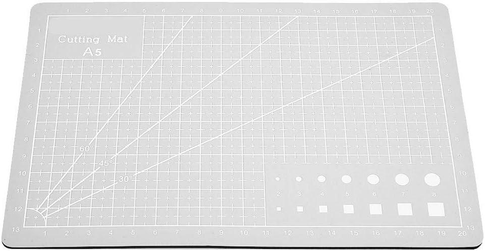 Board Cutting Mat A5 Grid Lines PVC Cutting Mat Self-healing Paper Leather Fabric Cutting Board gray
