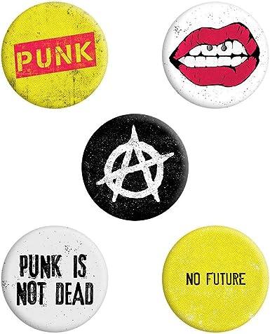 Grindstore - Paquete de chapas modelo Punk Is Not Dead (Tamaño Único) (Multicolor): Amazon.es: Ropa y accesorios