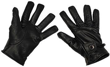 Lederhandschuhe gefüttert Reit Arbeitshandschuhe  schwarz  gefüttert