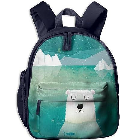 Amazon Com Polar Bear Small Backpack Cool Toddler Backpacks Kids