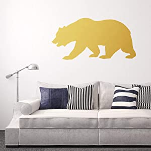 Bear Decal, Wall Decal, Wall Art, Wall Sticker, Bear Sticker, Wilderness Decal, Wilderness Sticker, Grizzly Bear, Wall Decor, Home Decor