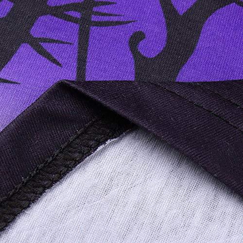 Panneaux en Longues Femme d'halloween Mode Dentelle t Manches violet Transparent Chemisier asymtrique Costume de Ample Shirts Tops Citrouille zzw04