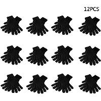 VIccoo 12Pairs Black Magic Gloves Adultos Niños Full
