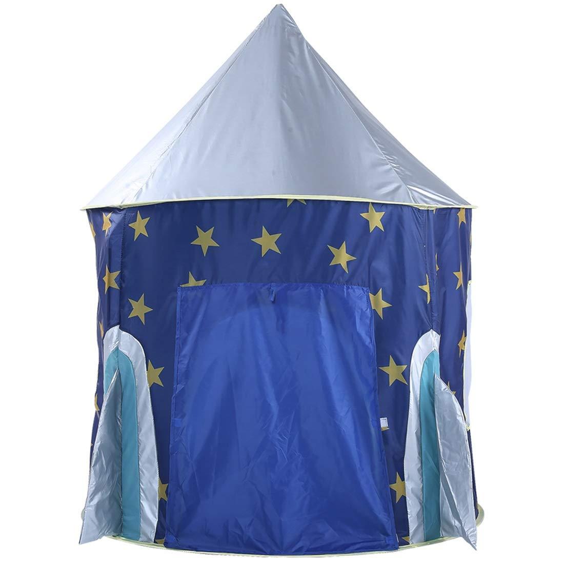 Nekovan B07R5FNBS4 子供のテント折りたたみ赤ちゃんおもちゃの家星ロケット城のプロジェクションプリンスオーシャンゲームボールプール ブルー Nekovan (色 : ブルー) ブルー B07R5FNBS4, ブライダル&ギフトDearCreation:e2412497 --- number-directory.top