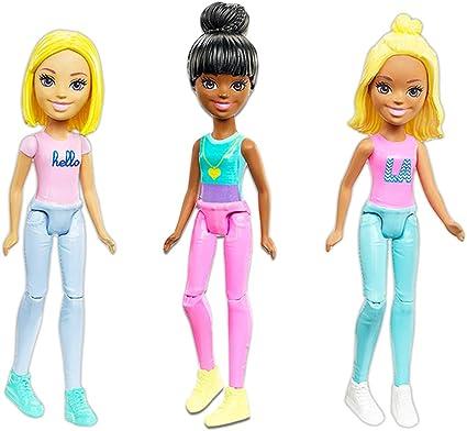 Amazon.com: Barbie - Juego de 4 mini muñecas para fiesta de ...