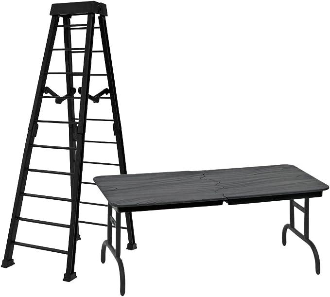 1 GRANDE para negro escalera y 1 Negro para cuadro de retención de retención para WWE lucha libre Figuras De Acción: Amazon.es: Deportes y aire libre
