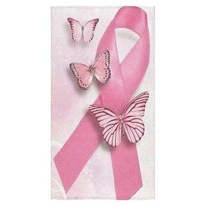 Moda campaña contra el cáncer de mama lazo rosa diseño personalizado toalla de baño suave absorbente