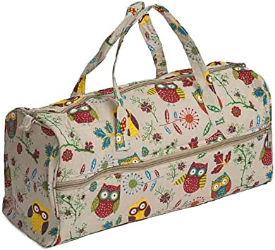 Owls MRL\29 Owl Print Large Sewing Box // Organiser Single Handle