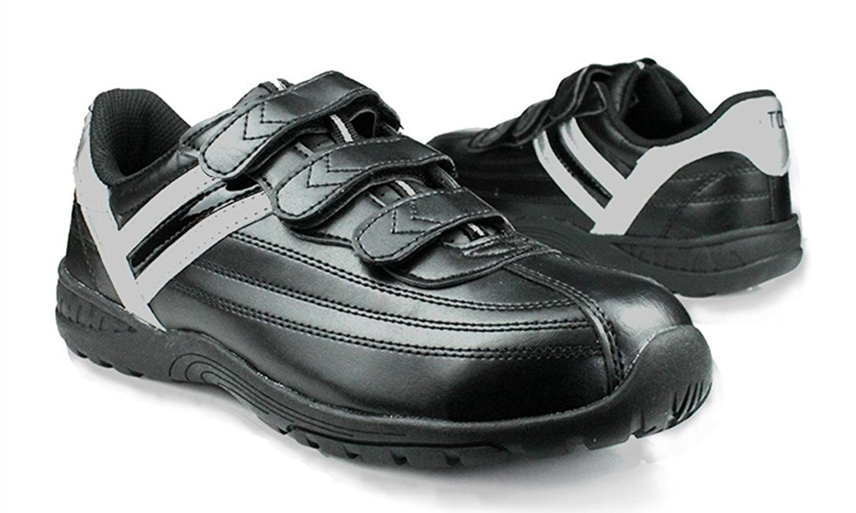 DDTX Hombres de acero de punta anti-punción ligero calzado de seguridad Negro(42) AGmlORjl