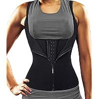 DUROFIT Verstelbare Sauna Suit Sweat Suit Taille Trainer Vest voor Vrouwen Gewichtsverlies Zwart