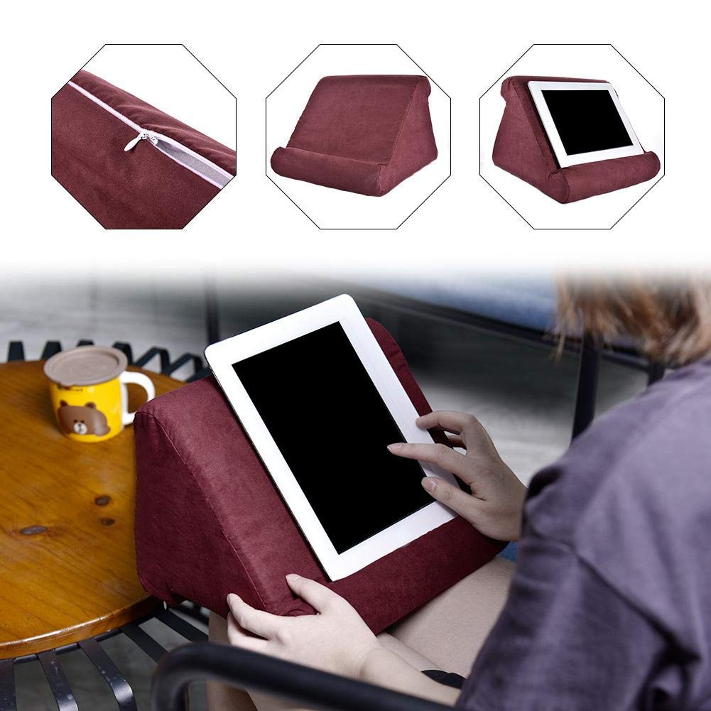 Cherry-Lee Soft Pillow for iPads Multi-Angle Tablet Stand Pillow Holder Phone Reading Cushion Soft Pillow